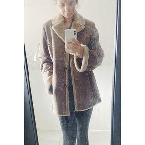 Jones New York Faux Fur + Suede Coat